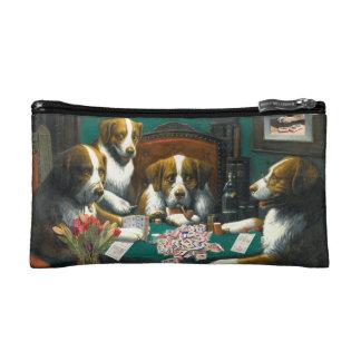 MahのJonggによってファスナーを絞めるお金のバッグを遊んでいる犬 コスメティックバッグ