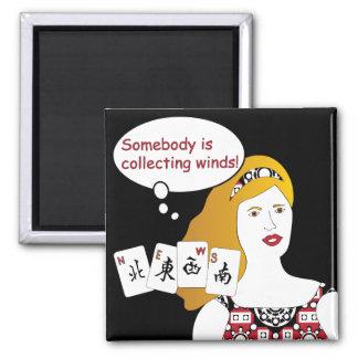 Mah Jonggのことわざの風の磁石 マグネット