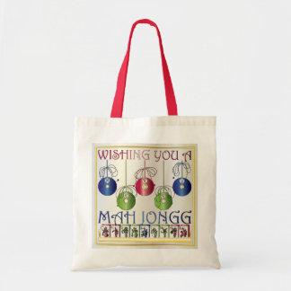Mah Jonggのクリスマスの賭をする人のバッグ トートバッグ