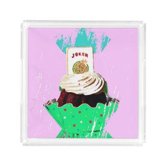 Mah Jonggのジョーカーのカップケーキの皿 アクリルトレー