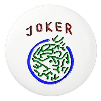 Mah Jonggのジョーカーの陶磁器のノブ セラミックノブ