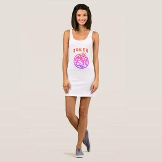 Mah Jonggのピンクのジョーカーのジャージーの服 袖なしドレス