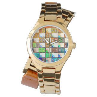 Mah Jonggの写実的なタイルの腕時計 腕時計