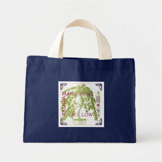 Mah Jonggの冬のヤナギ ミニトートバッグ