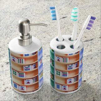 Mah Jonggの歯ブラシスタンドおよびソープディスペンサーセット バスセット