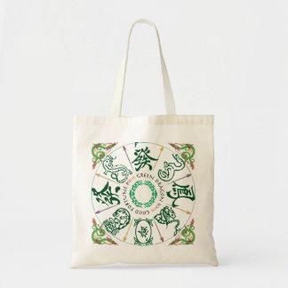 Mah Jonggの緑ドラゴンのバッグ トートバッグ