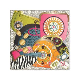 Mah Jonggの財布 キャンバスプリント