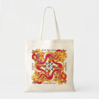 Mah Jonggの赤いドラゴンのバッグ トートバッグ