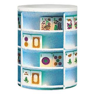 Mah Jonggの青はLEDの蝋燭をタイルを張ります LEDキャンドル