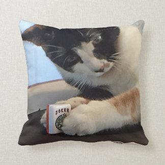 Mah Jongg猫および犬の枕 クッション