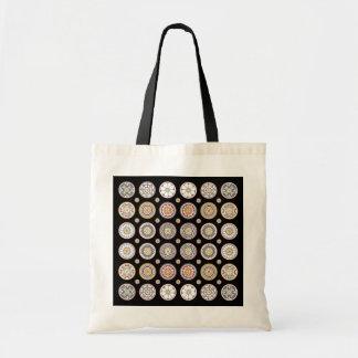 Mah Jongg 1は灰色か黄土または錆のバッグに点を打ちます トートバッグ