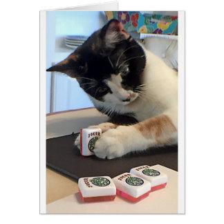 Mah Jongg Notecardのジョーカー猫 カード