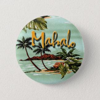 Mahaloのハワイ諸島 5.7cm 丸型バッジ