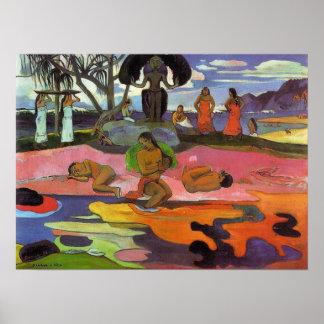 「Mahana Atua」-ポール・ゴーギャンのプリント無し ポスター