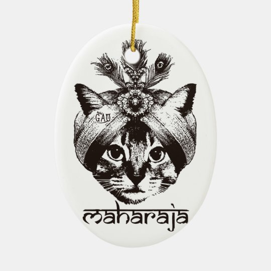 Maharaja Cat セラミックオーナメント