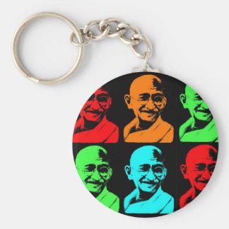 Mahatma Gandhiのコラージュ キーホルダー