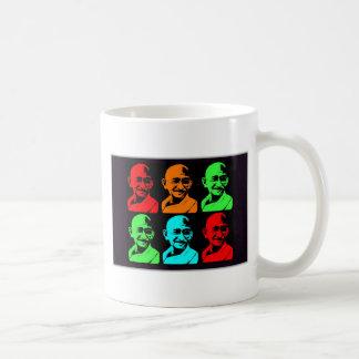 Mahatma Gandhiのコラージュ コーヒーマグカップ