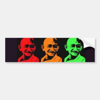 Mahatma Gandhiのコラージュ バンパーステッカー