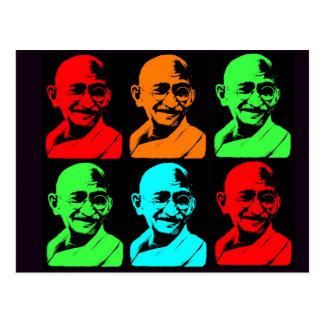 Mahatma Gandhiのコラージュ ポストカード