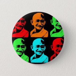 Mahatma Gandhiのコラージュ 5.7cm 丸型バッジ