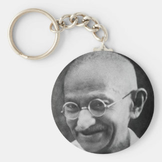 Mahatma Gandhiのポートレートの写真 キーホルダー