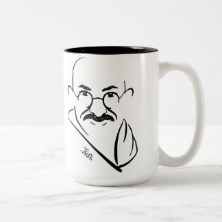 Mahatma Gandhiのマグ ツートーンマグカップ