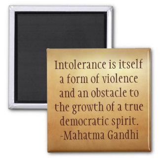 Mahatma Gandhiの不寛容の引用文の磁石 マグネット