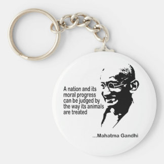 Mahatma Gandhiの動物権 キーホルダー