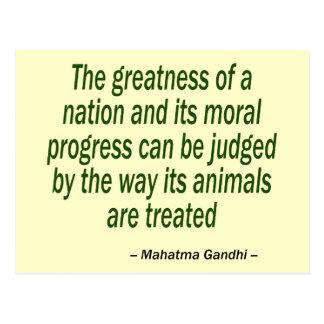 Mahatma Gandhiの引用文 ポストカード