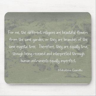 Mahatma Gandhiの引用文 マウスパッド