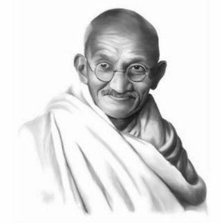 Mahatma Gandhiの彫刻 写真彫刻(台付き)
