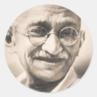 Mahatma Gandhi ラウンドシール