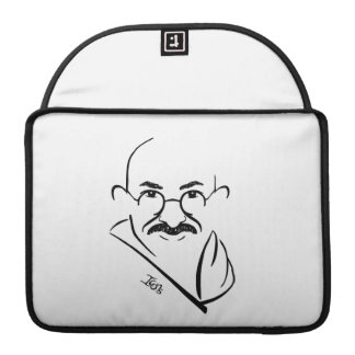 Mahatma Gandhi MacBookのプロ例 MacBook Proスリーブ