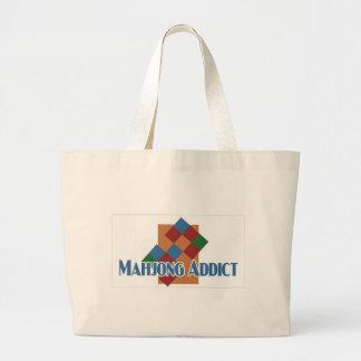 Mahjongの常習者のビーチのバッグ ラージトートバッグ