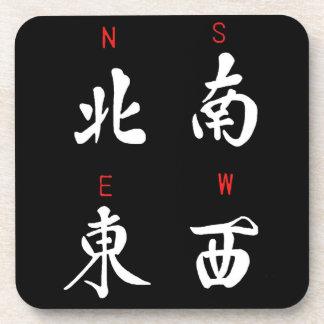 Mahjongの風、名誉のスーツ、北、南、東の、西の(b) コースター
