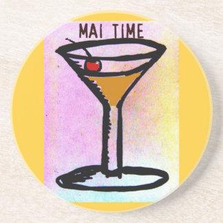 MAIの時間MAI TAIのカクテルのプリント コースター