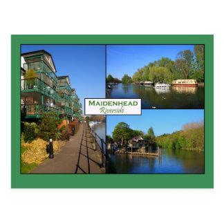 Maidenheadの川岸の郵便はがき ポストカード