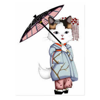 Maikoおよび芸者の日本浮遊世界 ポストカード