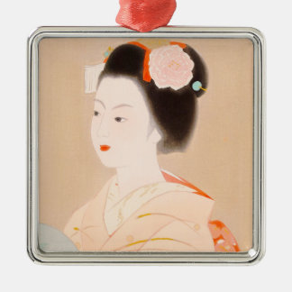 Maikoの日本の女性女性の女の子の着物の芸術 メタルオーナメント