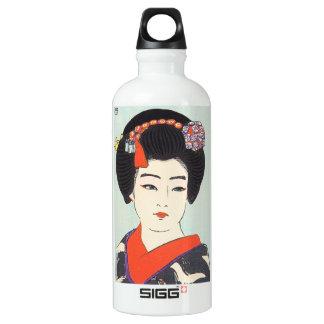 Maiko Shunsen Natoriの日本の芸術のポートレート ウォーターボトル