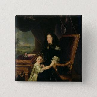 MaintenonのFrancoiseのd'Aubigneの伯爵夫人 5.1cm 正方形バッジ