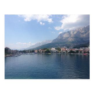 Makarska港 はがき