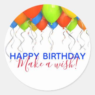 Make a Wish Big Birthday Stickers ラウンドシール