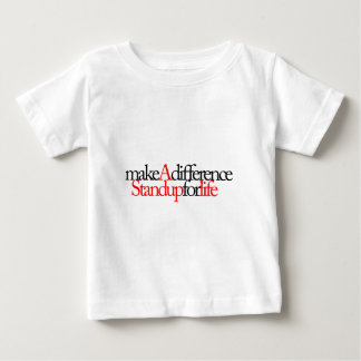 makeAdifference立場! ベビーTシャツ