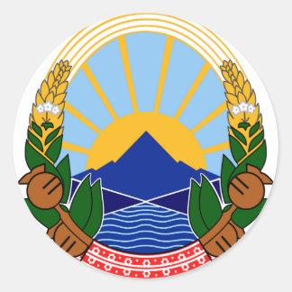 Makedonijaのgrb ラウンドシール