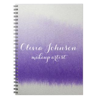Makeup Artist Watercolor Lavender ノートブック