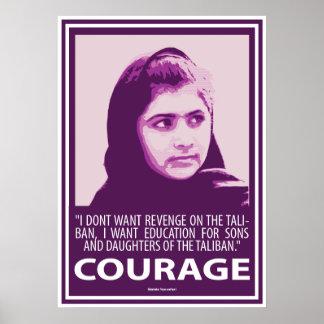 Malala -勇気(紫色シリーズ)の写真 ポスター