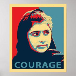 Malala Yousafzai -勇気の写真 ポスター
