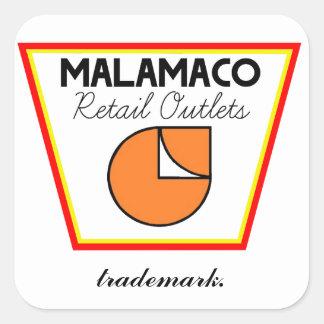 MalamaCoの小売販売店のSignature™のステッカー スクエアシール
