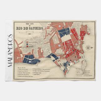 Malandrosリオの地図のふきん キッチンタオル